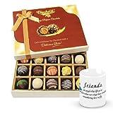 Valentine Chocholik Belgium Chocolates - Spread The Love Chocolates Hamper With Friendship Mug