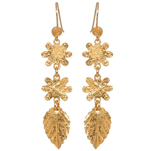 Snowflake & Basil Leaf Shape Earring Made In .925 Solid Silver (multicolor)