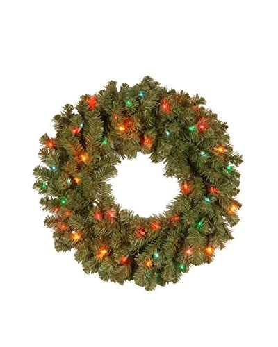 National Tree Company 24 Kincaid Spruce Wreath, Multi-Light