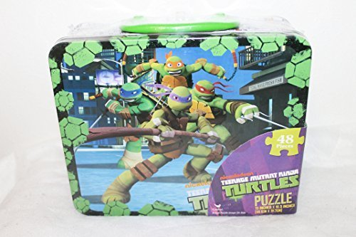 Nickelodeon Teenage Mutant Ninja Turtles 48 piece Jigsaw Puzzle in Metal Lunchbox