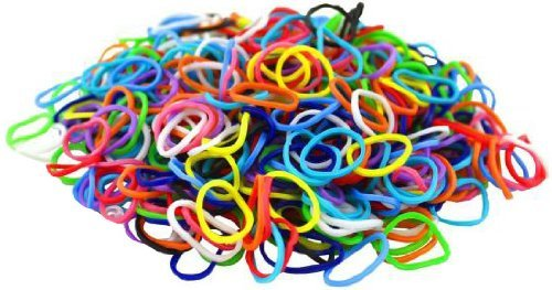 1000 Rainbow Colors Rubber Band Refill + 140 S-Clips - 100% Compatible with All Looms