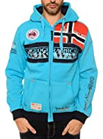 ZZZ-Geographical Norway Sudadera con Cierre Flyer (Turquesa)