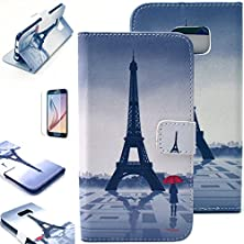 buy S6 Edge Case, Jcmax Wallet Flip Folio Case Built-In Card Slots High Quality Pu Leather Stand Cover [Anti - Scratch] [Non Slip] Protective Cover [Magnetic Design] Slim Skin For Samsung Galaxy S6 Edge (Come With Free Stylus Pen And Screen Protector) Waiting
