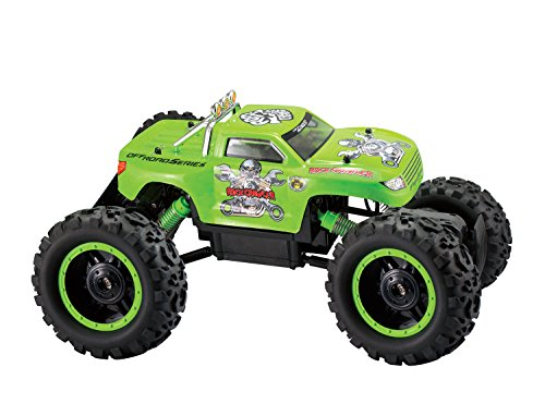 Powerful Remote Control Rock Crawler Truck, 4X4 Drive & Monster Rubber Wheels With 3 Motors, 1/12 Scale, (Colors May Vary) front-460015