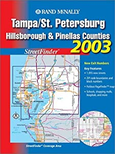 Tampa/St. Petersburg Hillsborough & Pinellas Counties by Rand McNally & Company