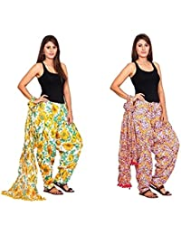 Rama Set Of 2 Floral Print Full Patiala With Dupatta Set