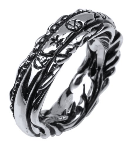 A&G Rock Wrap Around Design Ring in Sterling Silver