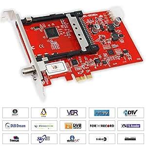 TBS 6928, DVB-S2 Single-Tuner, PCIe Satelliten-HDTV Empfangskarte mit CI für PayTV