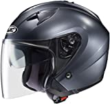 HJC Helmets IS-33 Helmet (Anthracite, Large)