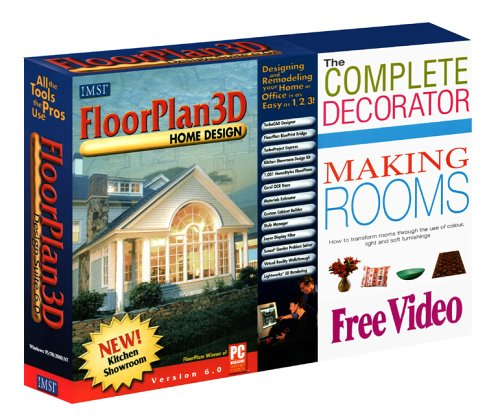 FloorPlan 3D Home Design Suite 6.0 & FREE The Complete Decorator Making Rooms Video