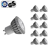LE Pack of 10 Units 5W GU10 LED Bulbs, 50W Equivalent, Perfect Standard Size, Warm White, Recessed Lighting, Track Lighting Discount