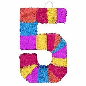 Number 5 Shaped Pinata