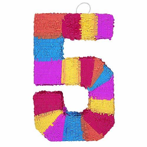 """Number 5 Pinata, 22"""" X 14"""""""