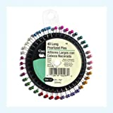 Dritz 63 Pearlized Pins, Long, 1-1/2-Inch (40-Count) (Color: Assorted, Tamaño: 1-1/2-Inch)
