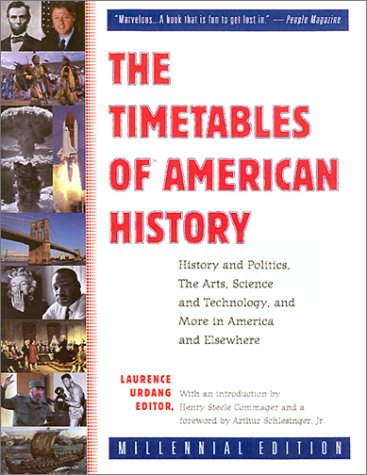 The Timetables of American History: History and Politics, the Arts, Science and Technology, and More in America and Elsewhere, Laurence Urdang