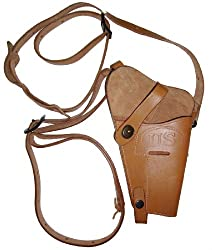 Leather M7 US Military Style Reproduction Tan Shoulder Holster For Colt .45 1911 Beretta 92 M9 Taurus PT92 SIG P220 P250 P226 S&W XD M&P Ruger P89 P90 P345 Pistols