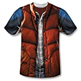 Back To The Future Marty McFly Vest Costume Adult Movie T-Shirt Tee Select Shirt Size: X-Large