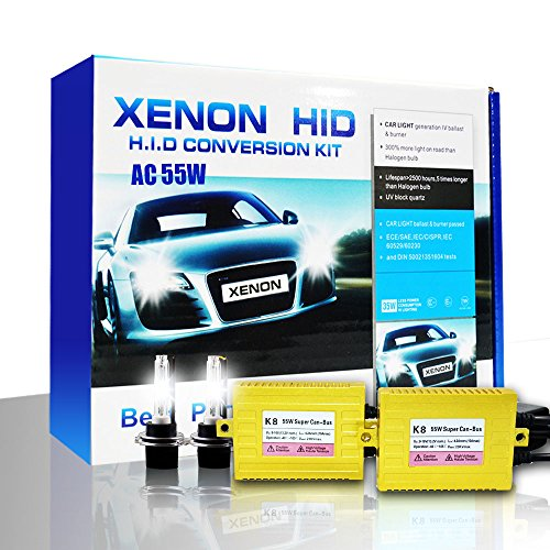 Shuanghong K8 Ac 55W Super Fast Quick Start Slim Ballast Canbus Error Free Can-Bus Hid Xenon Conversion Kit Golden H16 5202-3000K
