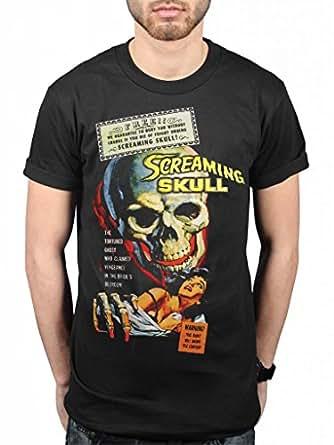 Official Plan 9 Screaming Skull T-Shirt Vlad Dracula Wolfman Horror
