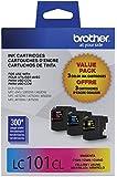 Brother Printer Innobella LC1013PKS LC101 3pack Standard Yield Color Ink