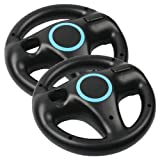 Generic 2 x Black Steering Mario Kart Racing Wheel for Nintendo Wii Remote Game