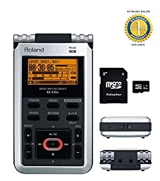 Roland R-05 WAV / MP3 Handheld Recorder with EV 32gb SD Card & 1 Year Free Extended Warranty