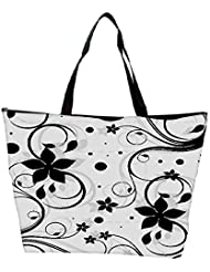 Snoogg Seamless Floral Pattern Abstract Background Waterproof Bag Made Of High Strength Nylon - B01I1KK1ZY
