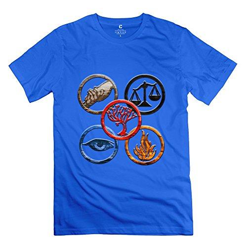 PCY Men's Printed Insurgent 2 Divergent 5 Symbol Best T-shirt L RoyalBlue