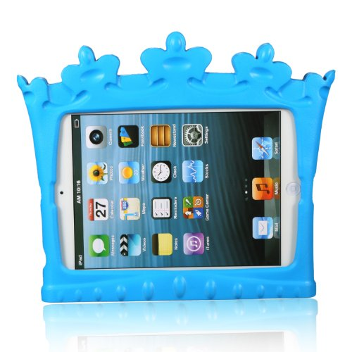 Xodo Kids Crown Series Light Weight Super Protection Cover Case for Apple iPad Mini 7.9 Inch for Kids Friendly + Free Gift 1 x Stylus Pen (Blue) - 1