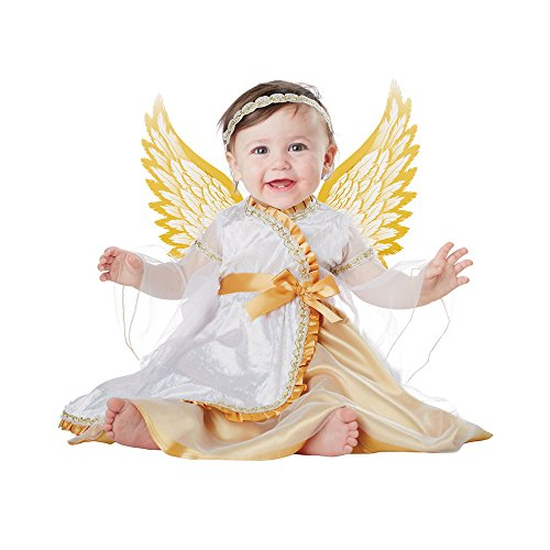 Baby-Girls Infant Angel, White/Gold, 18-24 Months