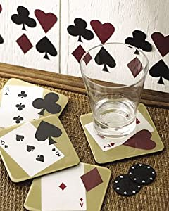 Wallies Poker Suite Cards Bar Room Wall Decor Cutouts