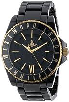 Vivienne Westwood Unisex VV048GDBK Black Ceramic Swiss Quartz Watch
