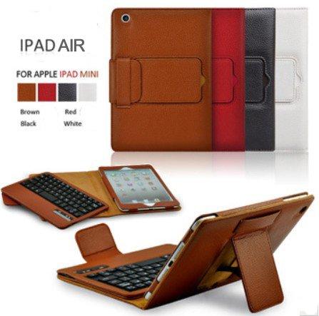 iPad air ケース iPad 5/bluetooth レザー キーボード/iPad air スマートケース/IPADAIR アイパッド IPAD 5 ケース カバー アイパットケース/[iPad]ノートタイプipad ケース/iPad/ipad カバー レザー/ipad ケース ブランド/apple アップル (ブラック)