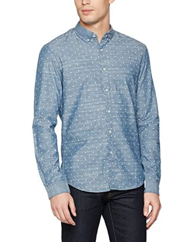 Tom Tailor Denim Camisa Hombre Azul