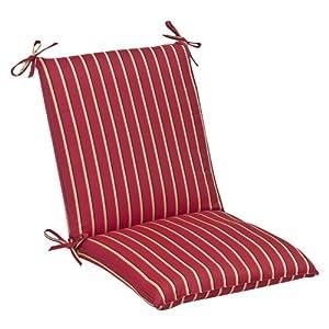 Golden striped chair cushions