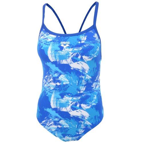 Arena Malaki Womens Blue High Leg Swimming Costume