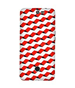 Geometric Blue Pattern Infocus M812 Case