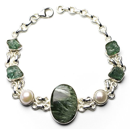 stargems-tm-natural-seraphinite-ruso-river-pearl-y-drusy-druzy-pulsera-de-plata-de-ley-925-6-3-4-7-3