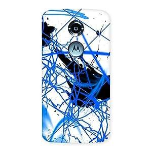 Cute Blue Splasher Print Back Case Cover for Moto X 2nd Gen