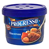 Progresso Soup, Minestrone, 15-Ounce Microwavable Bowls (Pack of 6) ~ Progresso