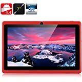 E-Ceros Create 2 Tablet PC - Quad Core A33 Chipset, Mali400 GPU, 7 Inch Screen, Android 4.4, 8GB Memory, OTG (Red)
