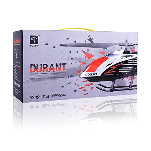 Red-Kid-11-Durant-Infrared-Remote-Control-Helicopter-35-Channel-with-Gyro-RC-Crash-Toys