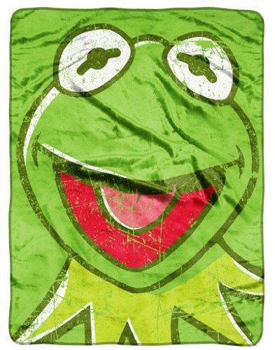 "Disney The Muppets Micro Raschel Throw Plush Throw Blanket 46"" X 60"" - 1"