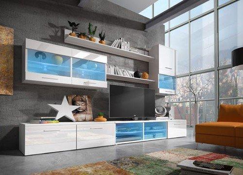 Muebles bonitos mueble de sal n teresa 2 blanco 3 m for Muebles bonitos para salon