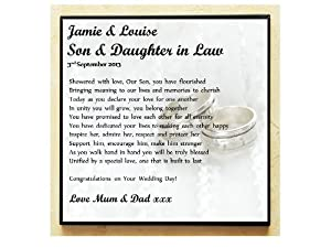 Perfect Wedding Gift For Your Daughter : Poem Plaque - On Your Wedding Day. Complete with Stand. Perfect Gifts ...