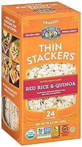 Amazon.com : Lundberg Thin Stackers Red Rice and Quinoa, 5