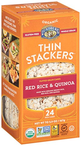 Lundberg Thin Stackers Red Rice and Quinoa, 5.9 Ounce (Pack of 12) (Lundberg Rice Red compare prices)