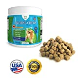 PawPaws Anxiety Relief/Calming Chews for Dogs, Natural Ingredients, Chamomile Flower, Passion Flower, Ginger Root, For All Dogs, Made in USA
