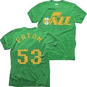 Utah Jazz NBA Mark Eaton #53 8-Bit Name & Number T-Shirt XL by Majestic Threads