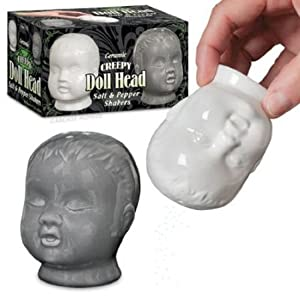 Accoutrements Creepy Doll Head Salt and Pepper Shakers by Accoutrements